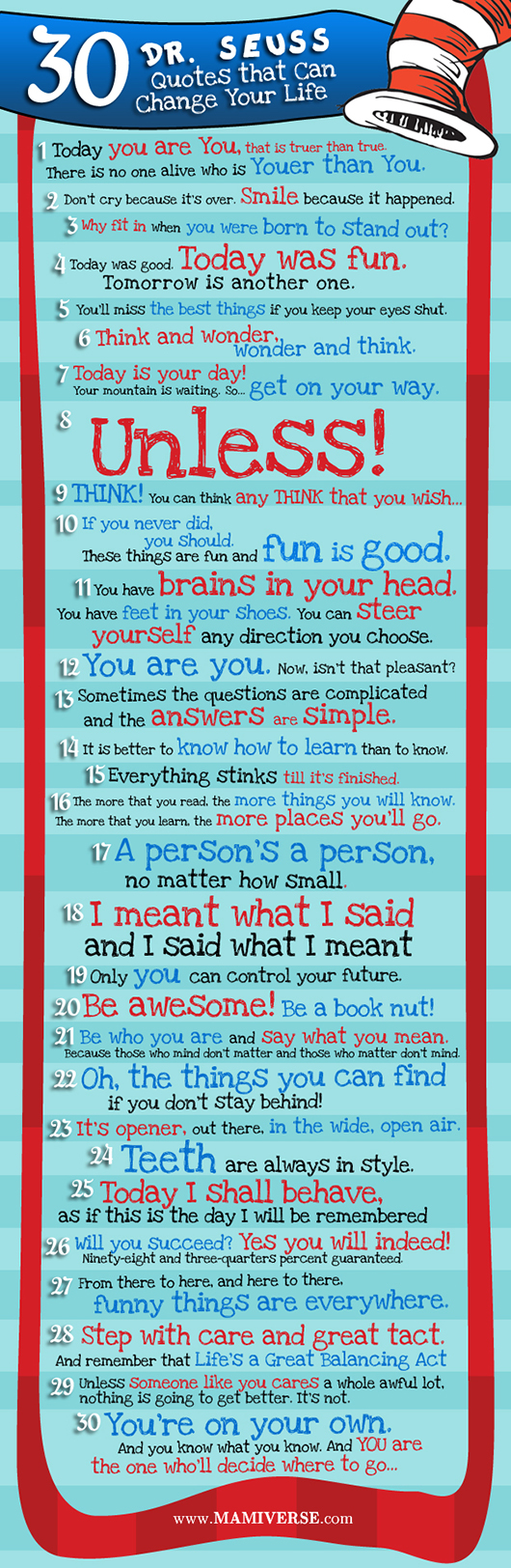 Dr Seuss Quotes About Love 30 Drseuss Quotes That Can Change Your Life  A Holistic